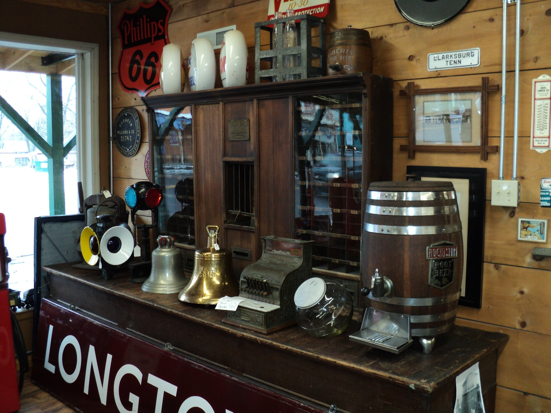 Brass and Bronze Bells, Railroadania, Militaria, Gas and Oil Items, Cash Registers